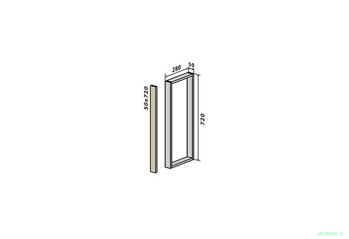 Модульная кухня RioLine / РиоЛайн Глянцевая В30 заглушка (верх/низ) 72