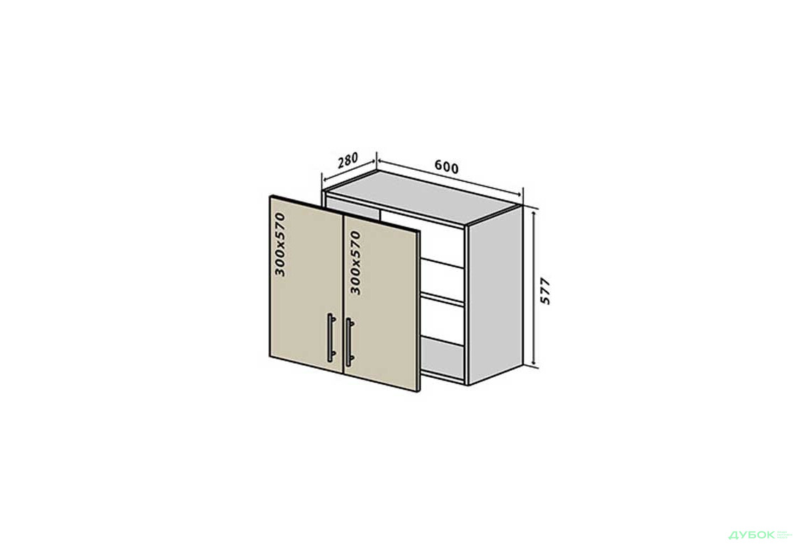 RioLine / РиоЛайн Глянцевая В53 Тумба 2Д 60