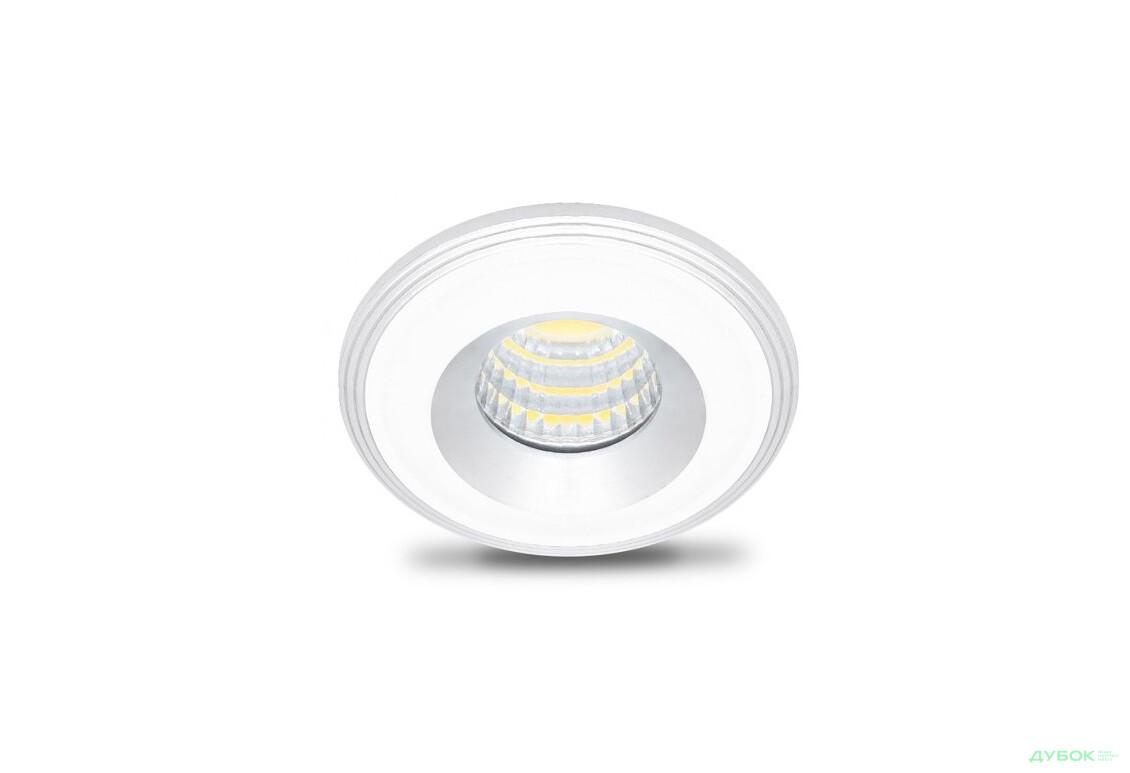 Світильник LN003 COB 3W 210Lm 4500K, білий-срібло