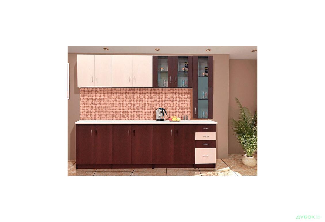 Кухня Венера 2.6 з пеналом (венге світлий)