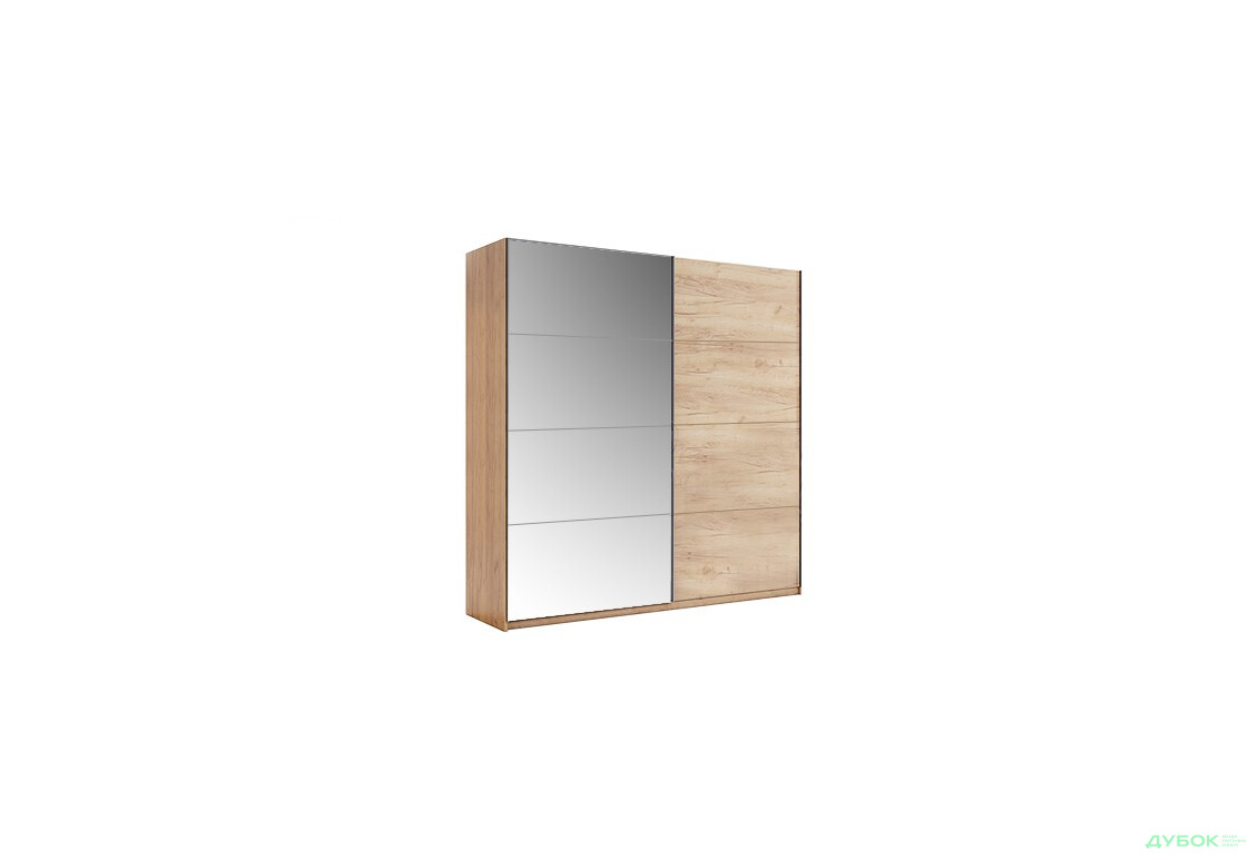 Шкаф-купе 2.0м Дуб крафт/Зеркало