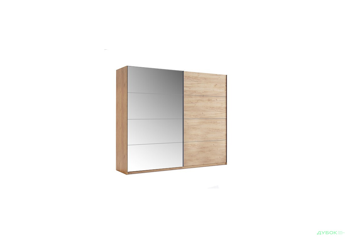 Шкаф-купе 2.5м Дуб Крафт/Зеркало