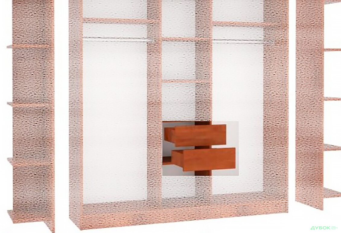 МебельСтар 2D 900 Шухляда в шкаф 332х450