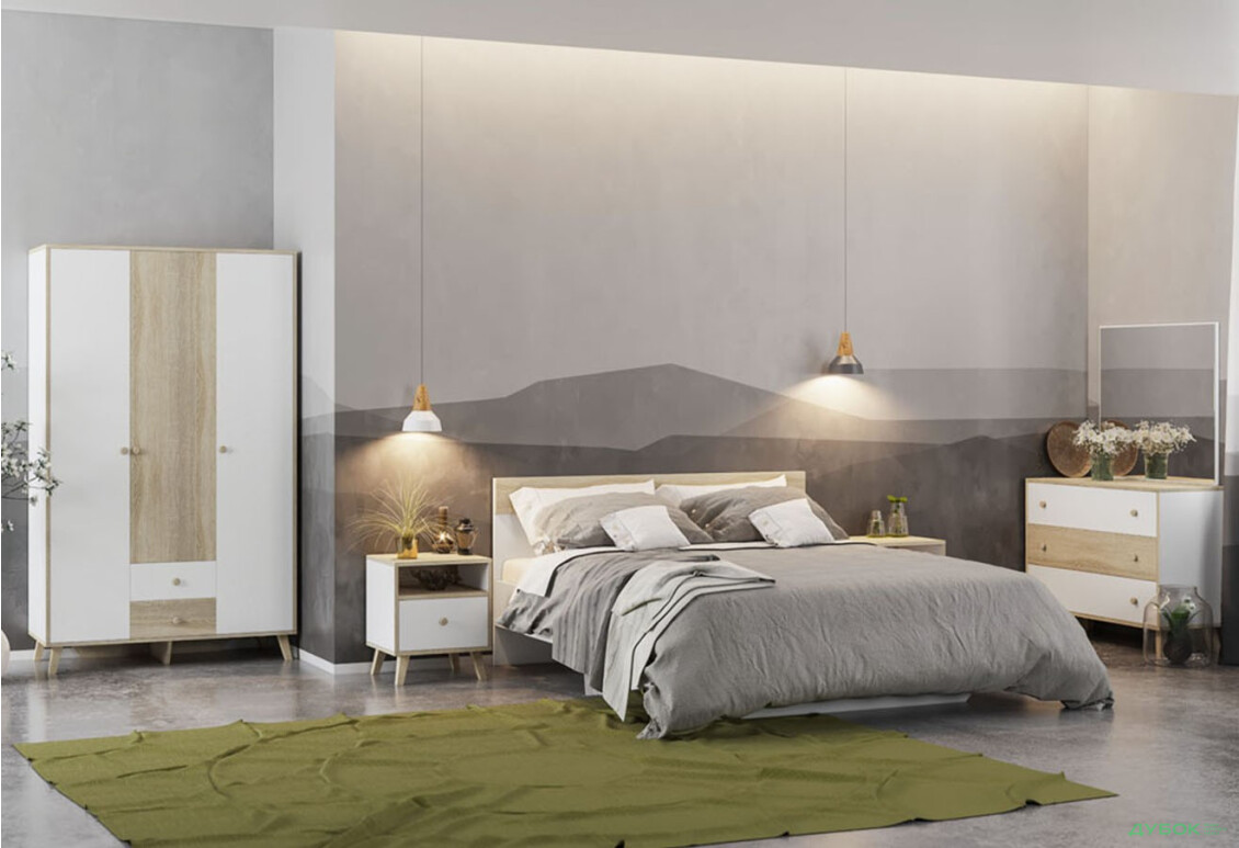 Спальня Эрика Комплект 3Д