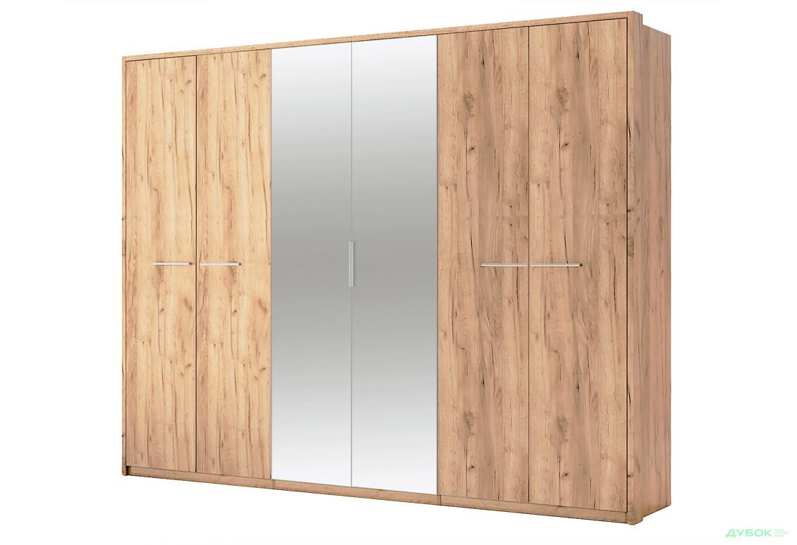 Модульна спальня Нікі Шафа 6Д із дзеркалами Дуб крафт
