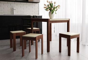 Комплект Элегант: стол + табуреты ЧДК