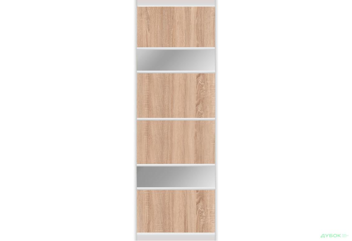 Альфа 1.2 м Фасад Ф-590х2200 AL Дсп комбі / Сатін