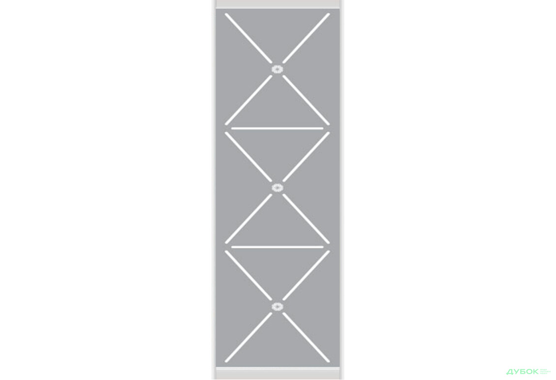 Омега 1 2.4 м Фасад Ф-590х2200 AL Дзеркало матоване