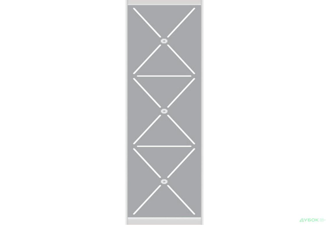 Омега 3 2.1 м Фасад Ф-590х2200 AL Зеркало матированное