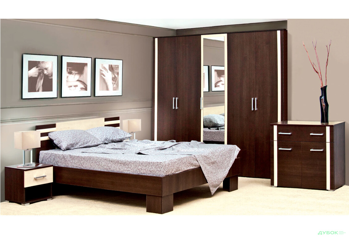 Модульна спальня Елегія Комплект 5Д