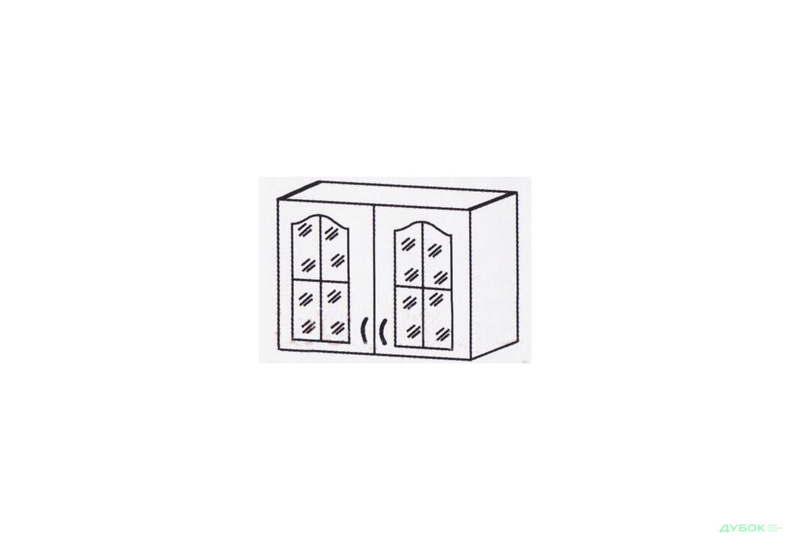Шкаф-настенный 800 (витрина)ШКН-612