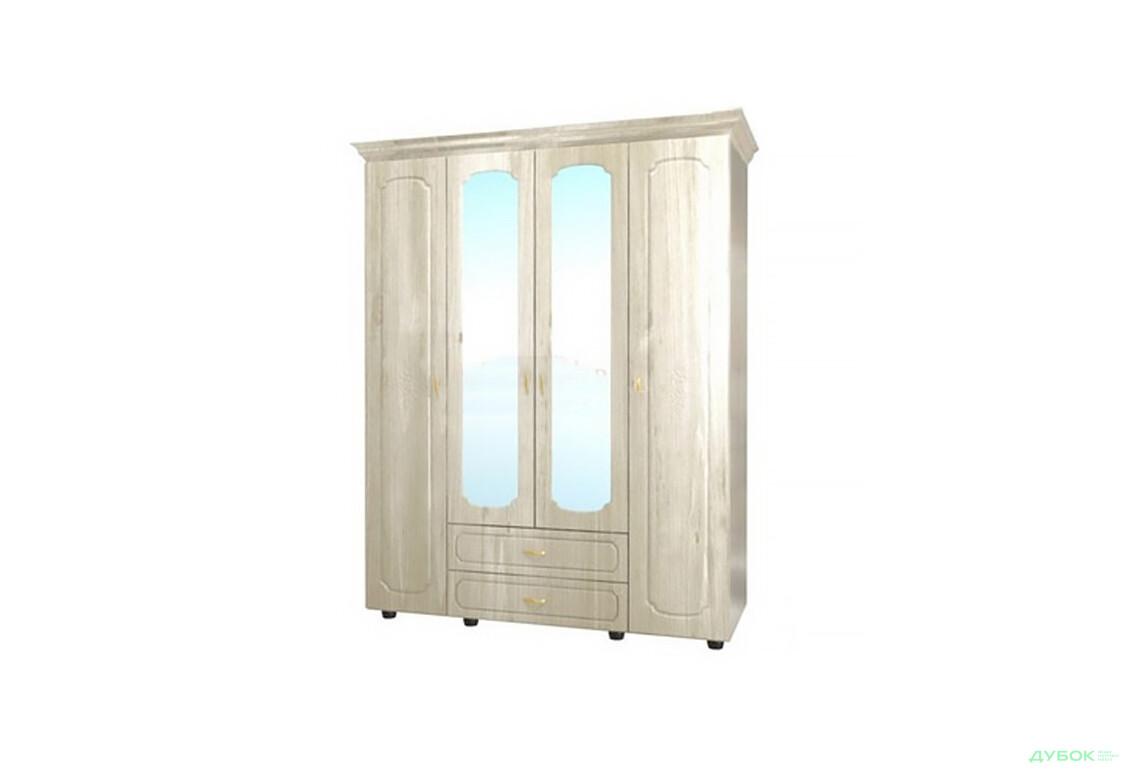 Модульная спальня Дженифер белая Шкаф  4Д Ш-1615