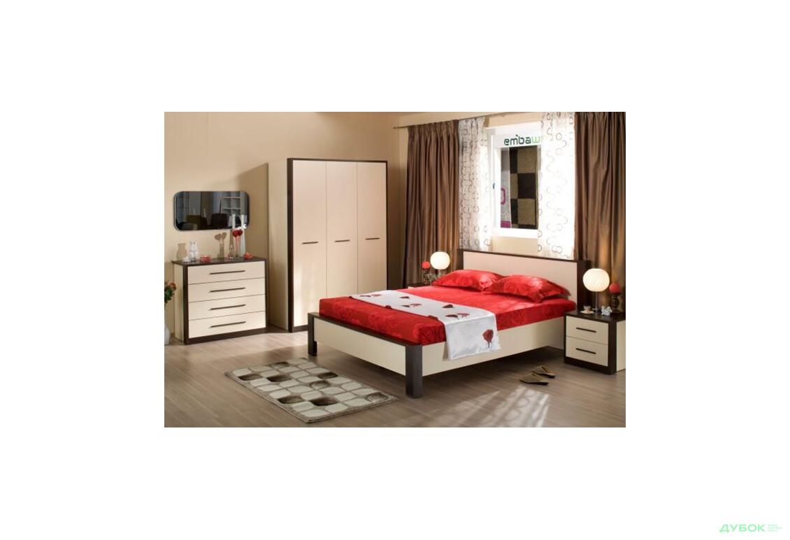 Модульна спальня Рига Ліжко 160 + ламелі