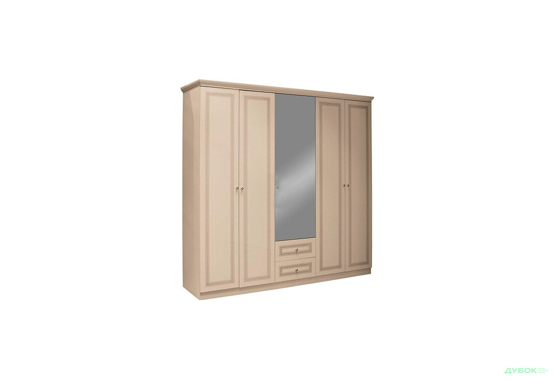 Шкаф-гардероб 5Д (крем)
