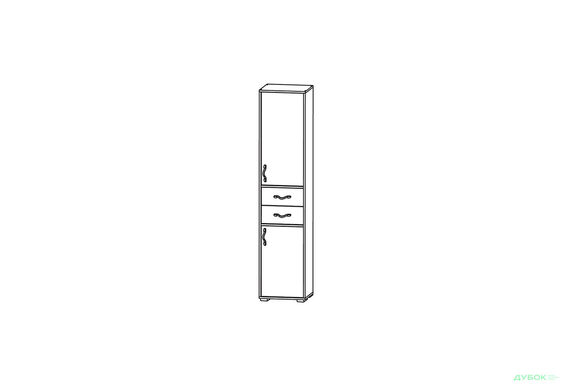 Модульная система Фламинго Пенал 2D2S